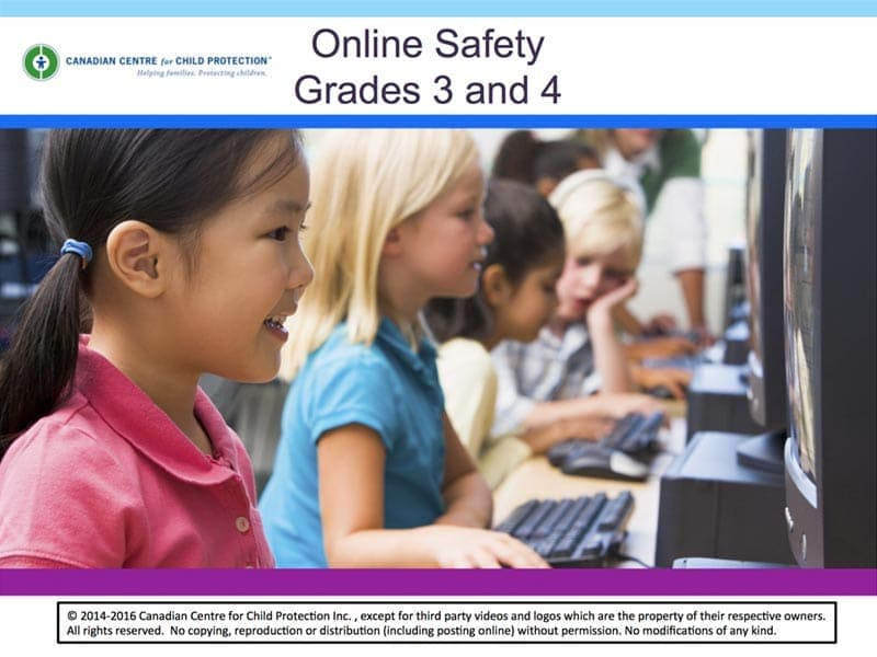 Online Safety for Grades 3 and 4