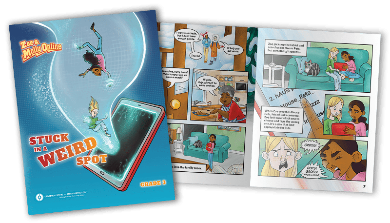 Zoe & Molly Online: Grade 3 comic