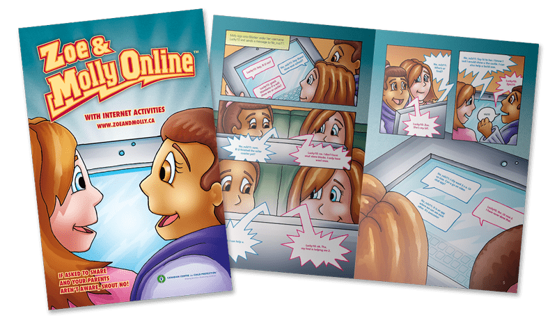 Zoe & Molly Online: Grade 4 comic